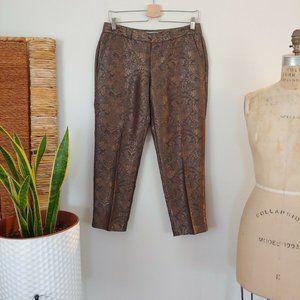 Banana Republic Brocade Pants Martin Fit 6P
